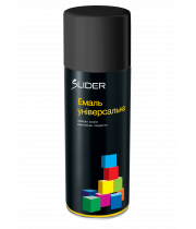 Универсальная аэрозольная эмаль Lider RAL 9005 черная матовая 400мл