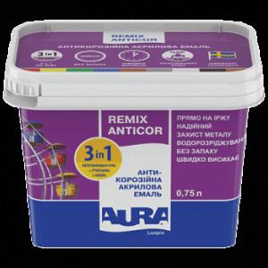Эмаль антикоррозионная 3 в 1 AURA Antikor 0,75л RAL 1018 желтая