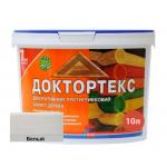 Лазурь-лак антисептический Доктортекс IPKOM IP-013 белый 10 л
