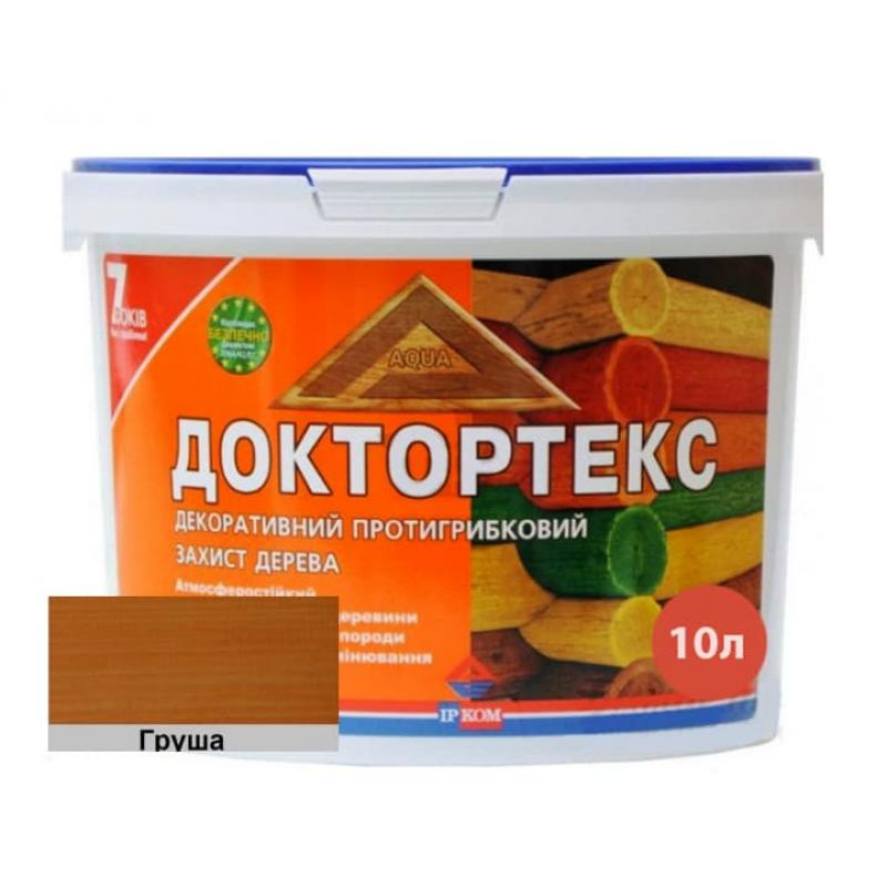 Лазурь-лак антисептический Доктортекс IPKOM IP-013 груша 10 л