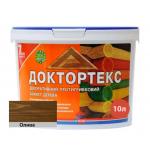 Лазурь-лак антисептический Доктортекс IPKOM IP-013 олива 10 л