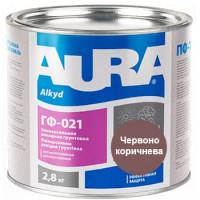Грунтовка антикорозионная алкидная AURA ГФ-021 красно-коричневая