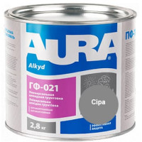 Грунтовка антикорозионная алкидная AURA ГФ-021 серая