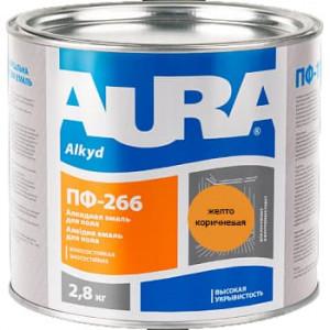 Эмаль для пола AURA ПФ 266 желто-коричневая
