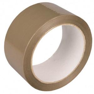 Скотч упаковочный 70 мм 100 м коричневый