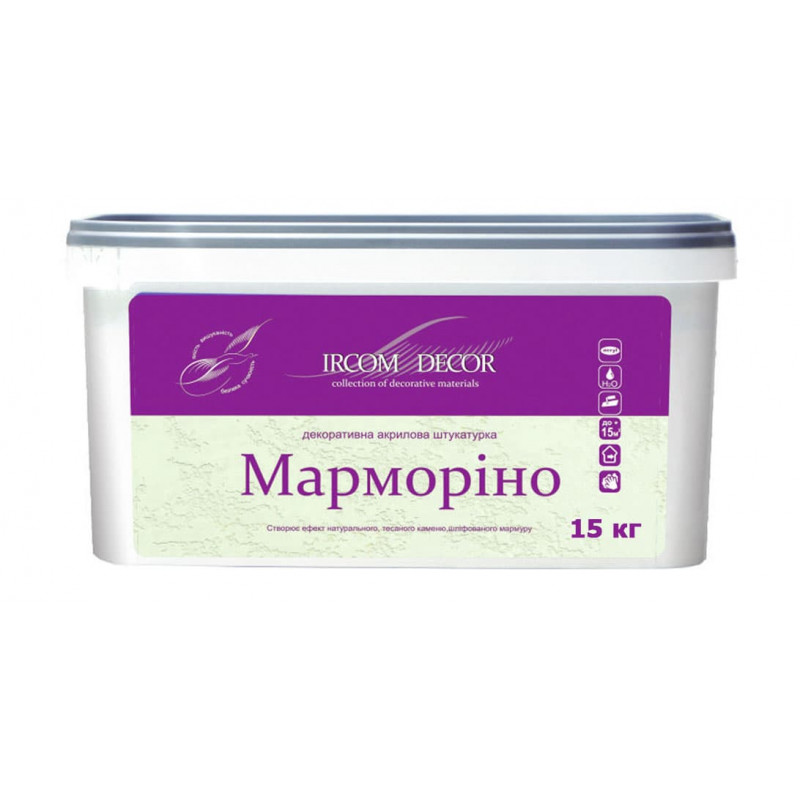 Декоративная штукатурка «МАРМОРИНО» ІРКОМ Декор 15 кг