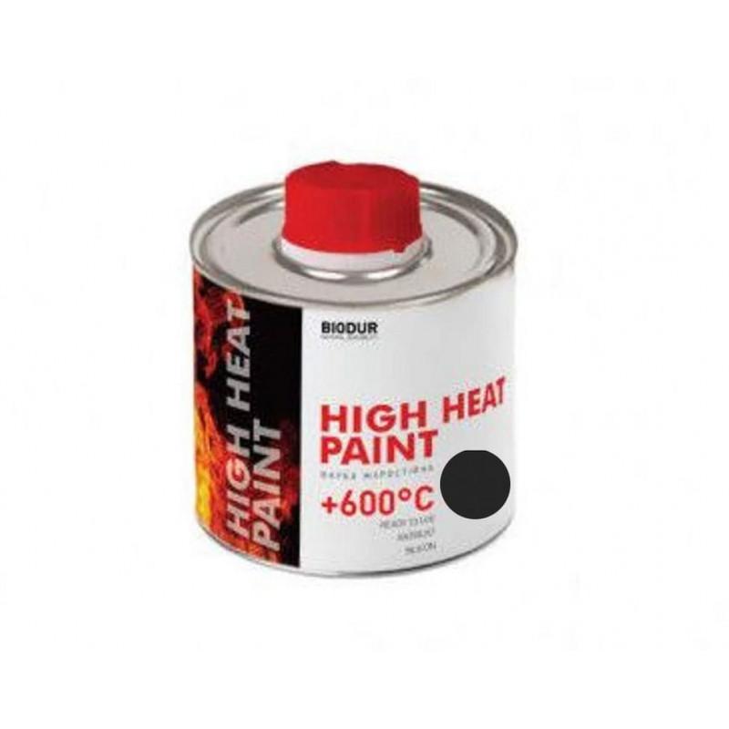 Жаростойкая краска эмаль BIODUR Heat Paint 200 мл Чёрная