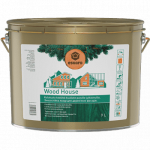Лазурь для деревянных фасадов Eskaro Wood House полуматовая прозрачная