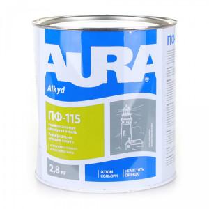 Универсальная алкидная эмаль AURA ПФ 115 белая глянцевая