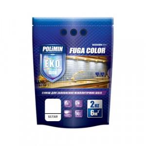 Затирка для плитки Fuga Color Polimin 2 кг белая