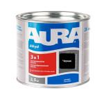 Антикоррозионная грунт-эмаль AURA 3в1 черная 2.5 кг