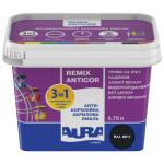 Антикорозийная акриловая эмаль Aura Luxpro Remix Anticor RAL 9011 черная 0,75л