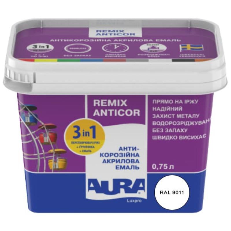 Антикорозийная акриловая эмаль Aura Luxpro Remix Anticor 0,75л белая 0,75л