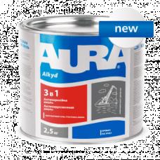 Антикорозійна грунт-емаль по металу AURA 3 в 1