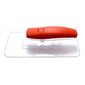 Терка пластиковая для декора прозрачная 220х90 мм PROFI