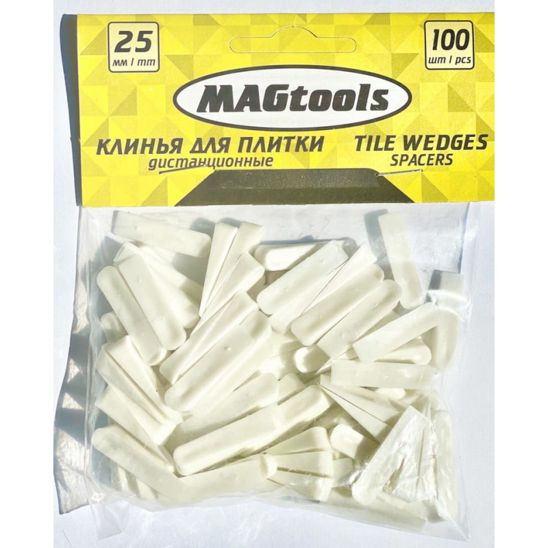 Клинья для плитки Magtools 40 мм 40 шт./уп (58117)