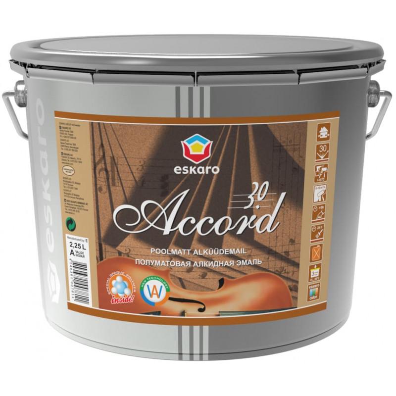 Алкидная эмаль ESKARO Accord 30 полуматовая 2.25 л