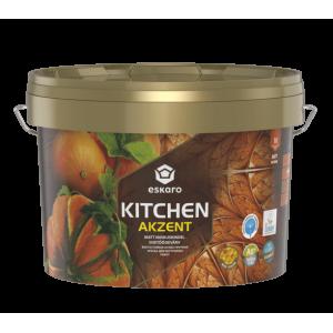 Краска акриловая Eskaro Akzent Kitchen шелковистый мат белый