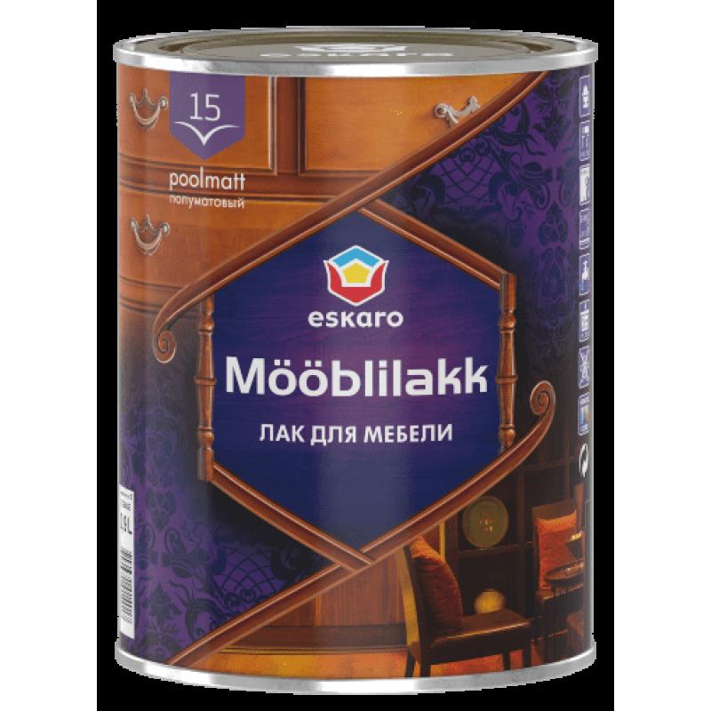 Лак для мебели Eskaro Moobilakk 15 полуматовый 0.9 л