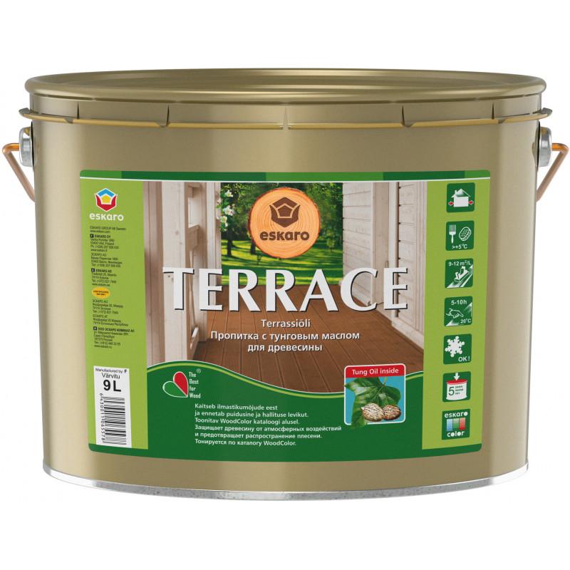 Масло для дерева AURA Terrace бесцветный 9 л