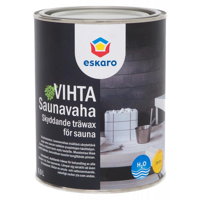 Лак для саун Eskaro Saunavaha Vihta бесцветный 0.9 л