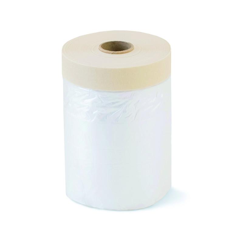 Защитная плёнка с бумажной малярной лентой CoverQuick Color Expert 270см х 16м