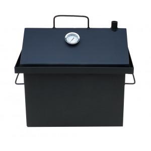Коптильня горячего копчения 2 мм 430х360х300 мм с термометром окрашенная