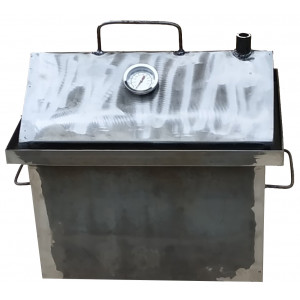 Коптильня горячего копчения 2 мм 430х360х300 мм с термометром не окрашенная