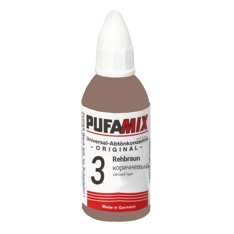 PUFAMIX универсальный концентрат для тонирования 20 мл №3 коричневый