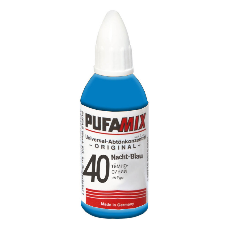 PUFAMIX универсальный концентрат для тонирования 20 мл №40 тёмно-синий