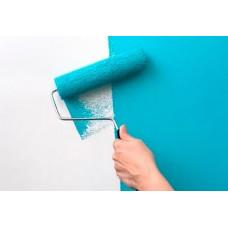 Подготовка и покраска стен водоэмульсионной краской Аура
