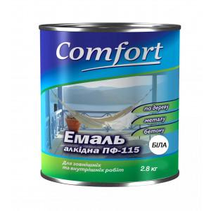 Алкидная краска эмаль ПФ 115 Comfort (PolyColor) белая