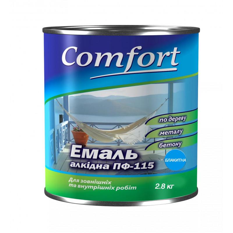 Алкидная краска эмаль ПФ-115 Comfort голубая 2.8 кг