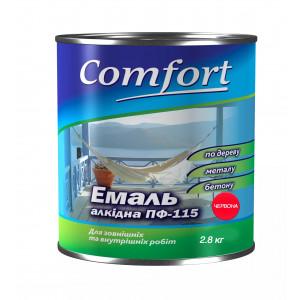 Алкидная эмаль краска Comfort (PolyColor) ПФ 115 красная