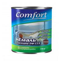 Алкидная эмаль краска Comfort (PolyColor) ПФ 115 коричневая