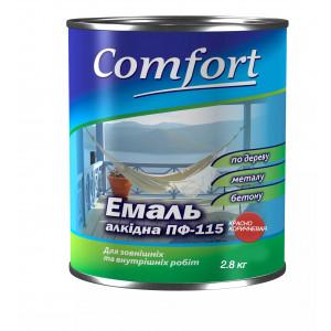 Алкидная эмаль краска Comfort (PolyColor) ПФ 115 красно коричневая