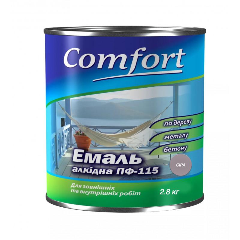 Алкидная эмаль краска Comfort (PolyColor) ПФ 115 серая 2.8 кг