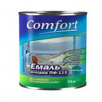 Алкидная эмаль краска Comfort (PolyColor) ПФ 115 изумрудная