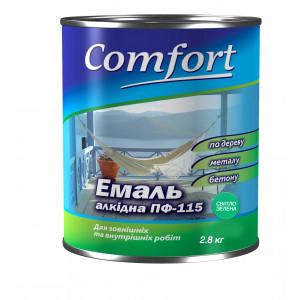 Алкидная эмаль краска Comfort (PolyColor) ПФ 115 светло зеленая