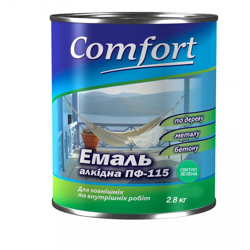 Алкидная эмаль краска Comfort (PolyColor) ПФ 115 светло зеленая 2.8 кг