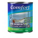 Алкидная эмаль краска Comfort (PolyColor) ПФ 115 темно серая 2.8 кг
