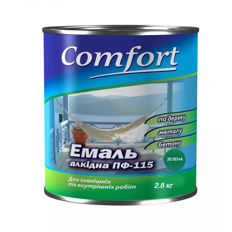 Алкидная краска эмаль ПФ-115 Comfort зеленая 2.8 кг