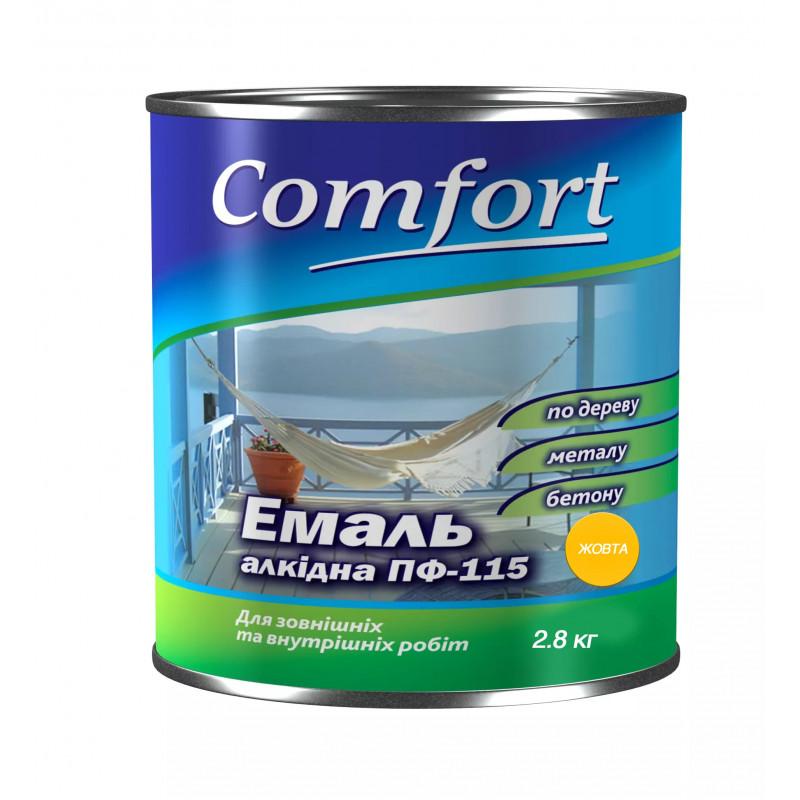 Алкидная краска эмаль ПФ-115 Comfort желтая 2.8 кг